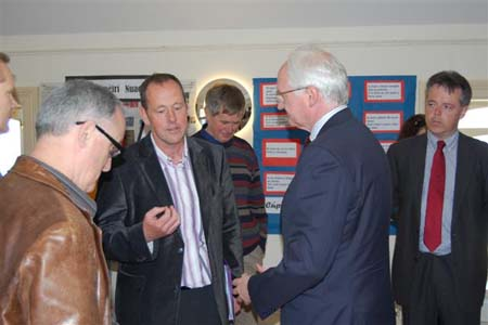 Minister Gormley visits Gaelscoil Exhibition